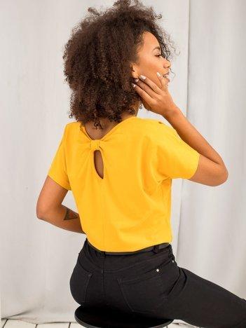 Jasnopomarańczowy t-shirt Flow