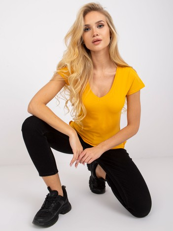 Jasnopomarańczowy t-shirt Square
