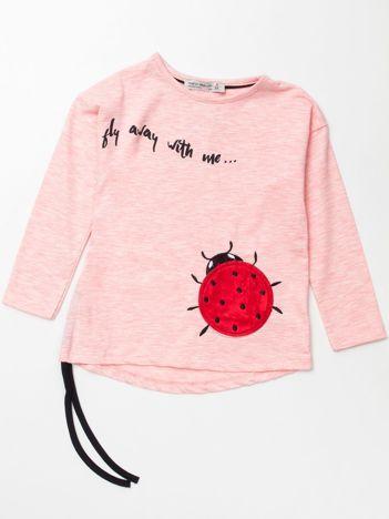 Jasnoróżowa bawełniana bluzka dla dziewczynki
