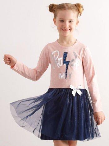 Jasnoróżowa bawełniana sukienka dla dziewczynki
