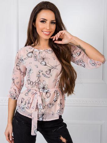 Jasnoróżowa bluzka Louise