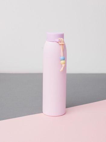 Jasnoróżowa ekologiczna butelka z powłoką termiczną