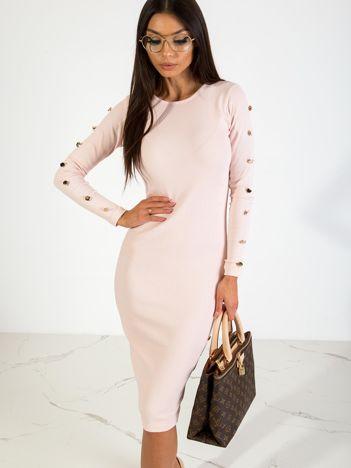 Jasnoróżowa sukienka Infinity