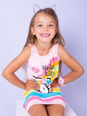 Jasnoróżowa sukienka dla dziewczynki bez rękawów HELLO KITTY