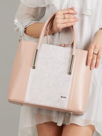Jasnoróżowa torebka damska ze skóry