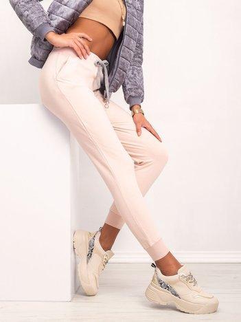 Jasnoróżowe spodnie Tracey