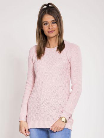 Jasnoróżowy damski sweter