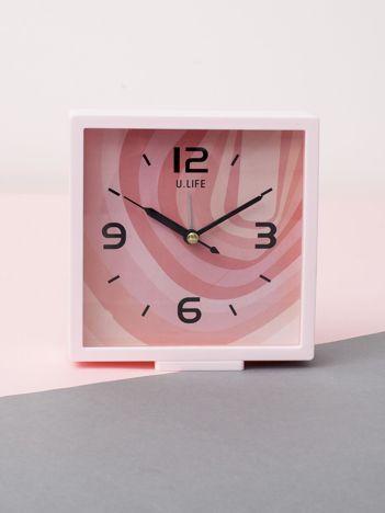 Jasnoróżowy kwadratowy zegarek