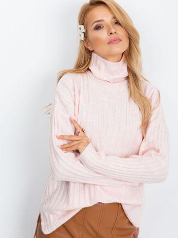 Jasnoróżowy sweter Aubrie