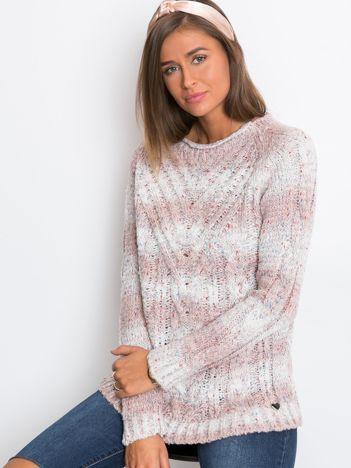 Jasnoróżowy sweter Rave