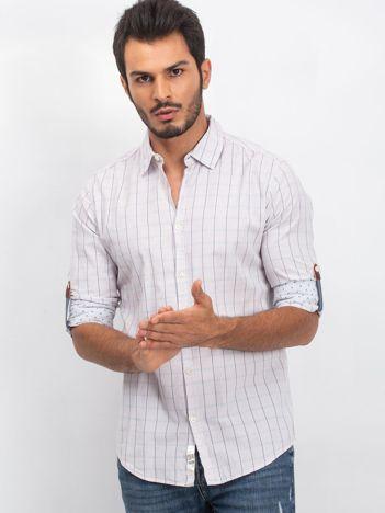 Jasnoszara koszula męska Messenger