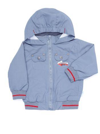 Jasnoszara kurtka dla chłopca