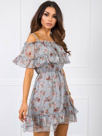 Jasnoszara sukienka Alexandra RUE PARIS