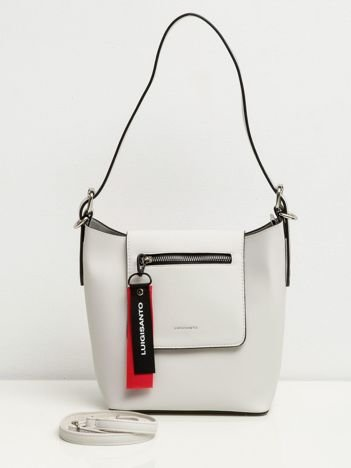 Jasnoszara torebka z klapką
