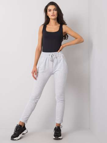 Jasnoszare melanżowe spodnie Cadence