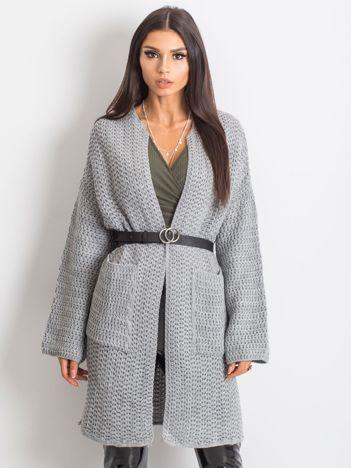 Jasnoszary sweter Luna