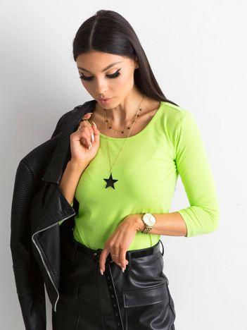 Jasnozielona bawełniana bluzka basic