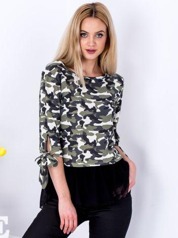 Jasnozielona bluzka moro z koszulą
