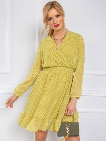 Jasnozielona sukienka Gabby RUE PARIS