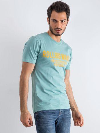 Jasnozielony t-shirt męski Waves