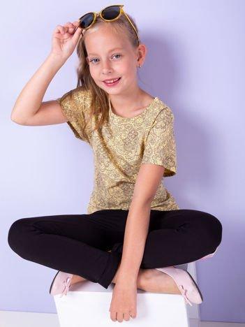 Jasnożółta bluzka dla dziewczynki