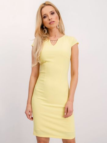 Jasnożółta sukienka Eve