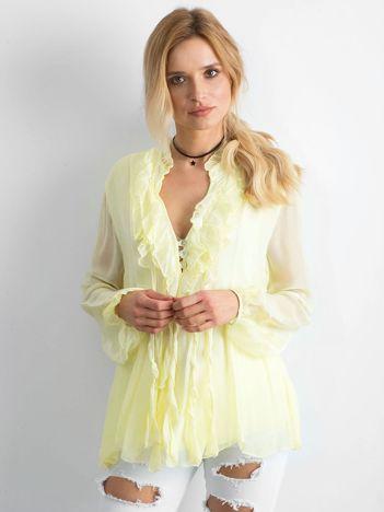 Jasnożółta zwiewna bluzka