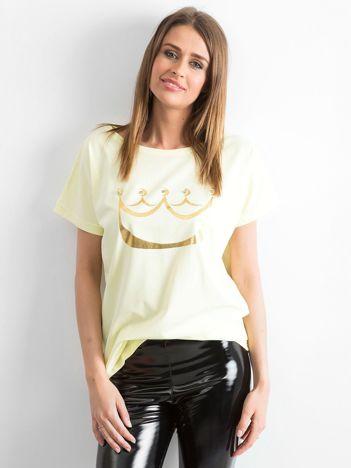 Jasnożółty t-shirt Kingdom