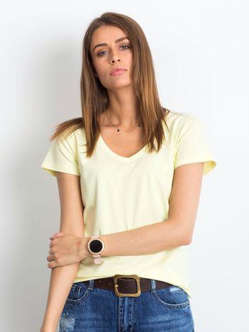 e922e989a7 Jasnożółty t-shirt Square