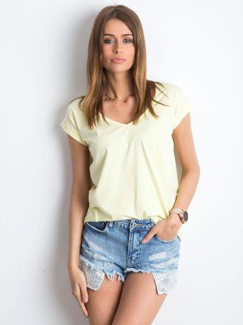 Jasnożółty t-shirt Vibes
