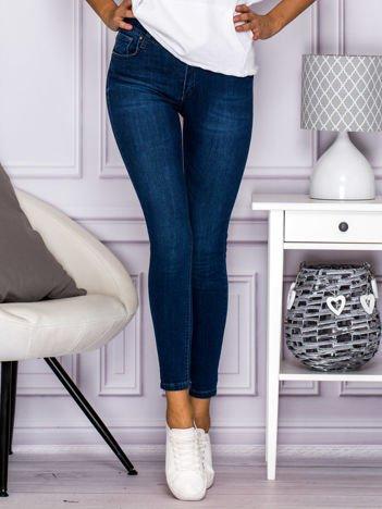 Jeansowe spodnie skinny ciemnoniebieskie