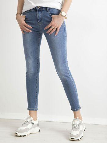 Jeansy slim fit niebieskie