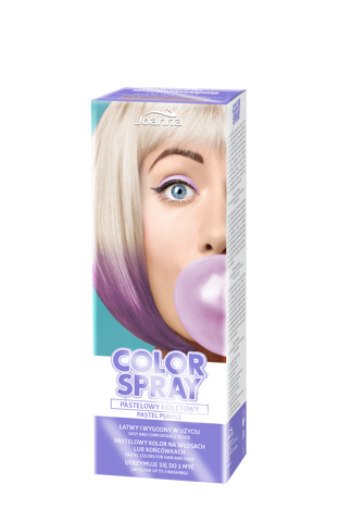 Joanna COLOR SPRAY Pastelowy fioletowy 150ml