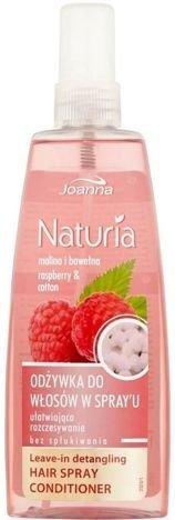 Joanna NATURIA Odżywka w spray'u ułatwiająca rozczesywanie malina i bawełna 150 ml