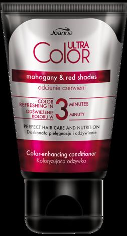 Joanna ULTRA Color SYSTEM Odżywka koloryzująca odcienie czerwieni 100g