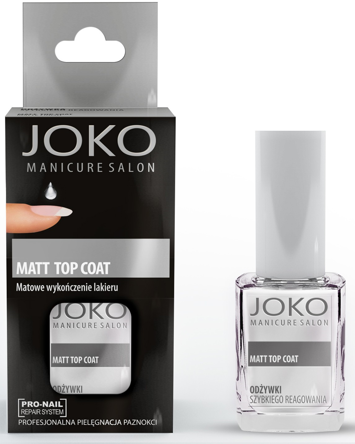 Joko Manicure Salon Matowe wykończenie lakieru Matt Top Coat 10 ml