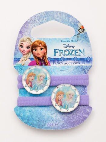 KRAINA LODU Komplet 2 fioletowych gumek-frotek dla dziewczynki