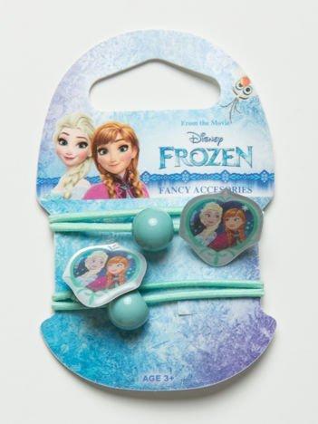 KRAINA LODU Zestaw 2 szt. miętowych gumek do włosów dla dziewczynki