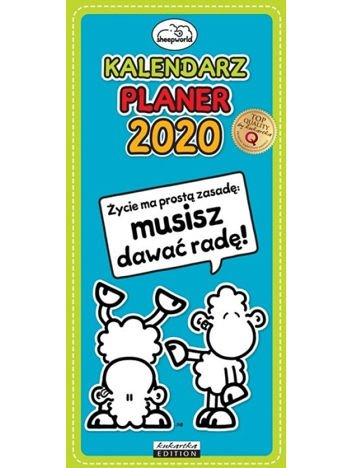 KUKARTKA Kalendarz planer ścienny na rok 2020 SHEEPWORLD Dla Pary wielkość 21x45 cm