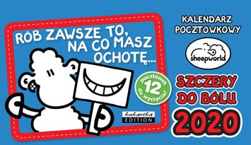 KUKARTKA Kalendarz pocztówkowy na rok 2020 SHEEPWORLD SZCZERY. 12 pocztówek GRATIS!