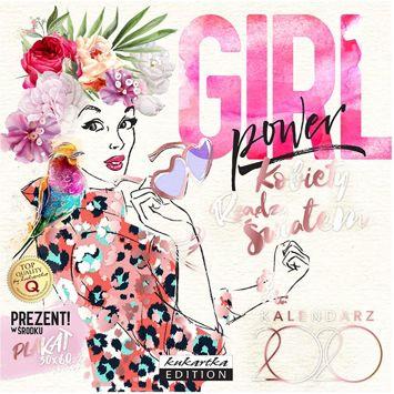 KUKARTKA Kalendarz ścienny na rok 2020 GIRL + plakat 60x30 cm