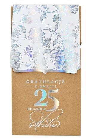 KUKARTKA Kartka Gratulacje z Okazji 25 Rocznicy Ślubu. Wyjątkowa i niepowtarzalna kartka z kolekcji Passion Moments