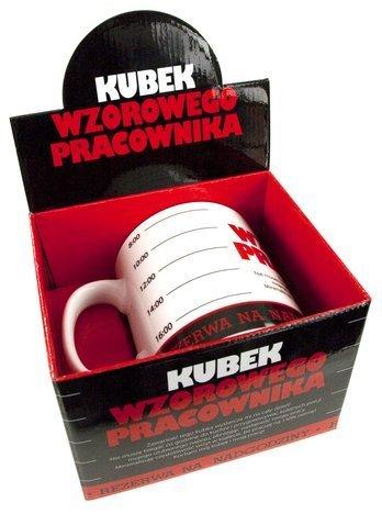 """KUKARTKA Kubek Gigant dla """"Wzorowego Pracownika"""" poj. aż 0,75 l ! Gigant przez duże G"""