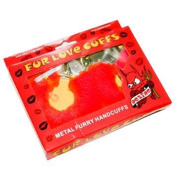 Kajdanki futrzane, które lekko zniewolą i zadowolą! W wydaniu czerwonym.