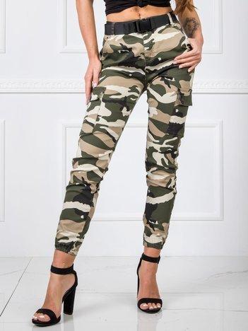 Khaki-beżowe spodnie Army