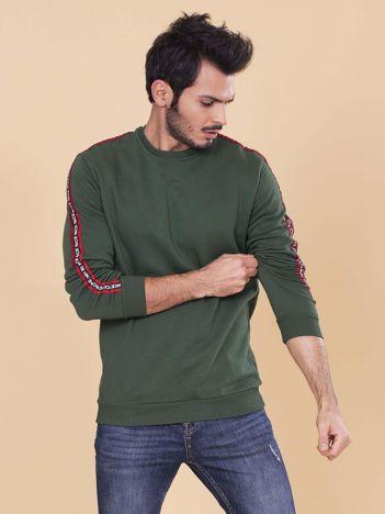 Khaki bluza dla mężczyzny z lampasami