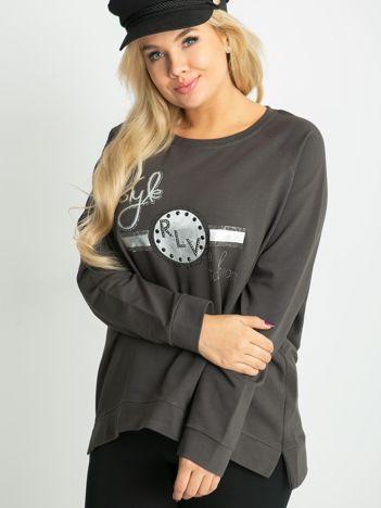 Khaki bluza plus size Style