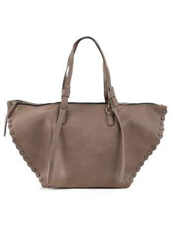 Khaki damska torba z ćwiekami
