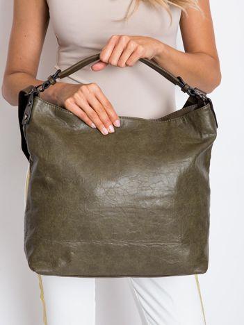 Khaki duża torba damska