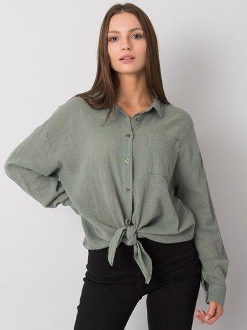 Khaki koszula bawełniana Etta OCH BELLA